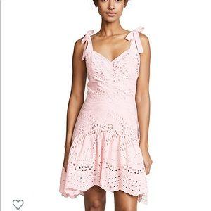 PARKER pearl blush eyelet dress NWT